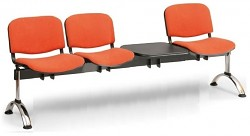 Čalouněná lavice do čekáren Viva Biedrax LC9377O - podnož chromovaná