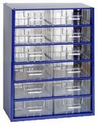 závěsná skříňka, box organizér na šroubky - Biedrax 6106 modrá, standardní provedení