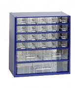 závěsná skříňka, box organizér na šroubky - Biedrax 6131 modrá, standardní provedení