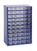 závěsná skříňka, box organizér na šroubky - Biedrax 6132 modrá, standardní provedení
