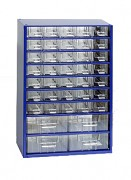 závěsná skříňka, box organizér na šroubky - Biedrax 6743 modrá, standardní provedení