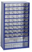 závěsná skříňka, box organizér na šroubky - Biedrax 6744 modrá, standardní provedení