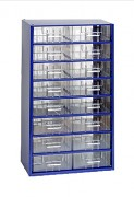 závěsná skříňka, box organizér na šroubky - Biedrax 6752 modrá, standardní provedení
