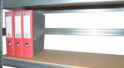 zadní zábrana 120 cm zinek, pro kovový regál proti vypadnutí