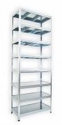 kovový regál Biedrax 45 x 90 x 270 cm - 8 polic kovových x 120 kg, pozinkovaný