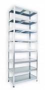 kovový regál Biedrax 50 x 75 x 270 cm - 8 polic kovových x 120 kg, pozinkovaný