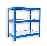 kovový regál Biedrax 45 x 90 x 90 cm - 3 police kovové x 120 kg, modrý