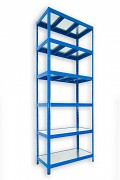 kovový regál Biedrax 50 x 90 x 240 cm - 6 polic kovových x 120 kg, modrý