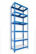 kovový regál Biedrax 60 x 75 x 240 cm - 6 polic kovových x 120 kg, modrý