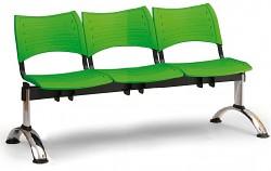 Plastová lavice do čekáren Visio Biedrax LC9292Z - podnož chromovaná