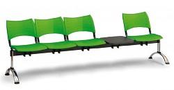 Plastová lavice do čekáren Visio Biedrax LC9295Z - podnož chromovaná