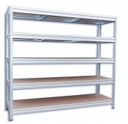 kovový regál Biedrax 60 x 160 x 180 cm, 5 polic - pozink, nosnost 200 kg na polici