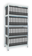 Regál na šanony Biedrax 40 x 100 x 180 cm, 5 polic kovových x 100 kg zinek