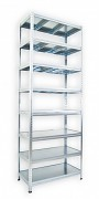 Pozinkovaný regál Biedrax 35 x 90 x 240 cm - 8 polic kovových x 120 kg