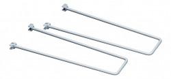 Zarážka stříbrná pro nástěnný regál Biedrax - 2 ks v balení