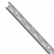 Nástěnná lišta 50 cm (stojinka) - barva stříbrná