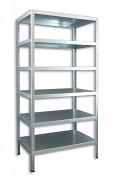 kovový regál Biedrax šroubovaný 30 x 100 x 180 cm, 6 polic - pozinkovaný