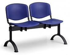 Plastová lavice do čekáren ISO Biedrax LC9680M - podnož černá