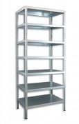 kovový regál Biedrax šroubovaný 40 x 130 x 300 cm, 7 polic - pozinkovaný