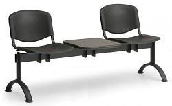 Plastová lavice do čekáren ISO Biedrax LC9690C - podnož černá