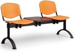 Plastová lavice do čekáren ISO Biedrax LC9690O - podnož černá
