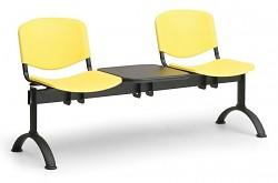Plastová lavice do čekáren ISO Biedrax LC9690ZL - podnož černá