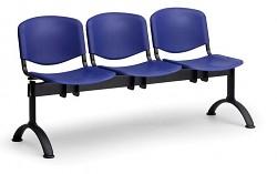 Plastová lavice do čekáren ISO Biedrax LC9700M - podnož černá