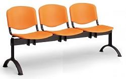 Plastová lavice do čekáren ISO Biedrax LC9700O - podnož černá