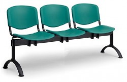 Plastová lavice do čekáren ISO Biedrax LC9700Z - podnož černá