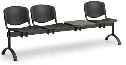 Plastová lavice do čekáren ISO Biedrax LC9710C - podnož černá