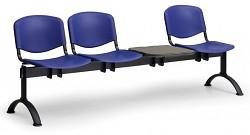 Plastová lavice do čekáren ISO Biedrax LC9710M - podnož černá