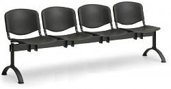 Plastová lavice do čekáren ISO Biedrax LC9720C - podnož černá