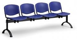 Plastová lavice do čekáren ISO Biedrax LC9720M - podnož černá