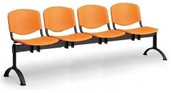 Plastová lavice do čekáren ISO Biedrax LC9720O - podnož černá