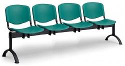 Plastová lavice do čekáren ISO Biedrax LC9720Z - podnož černá