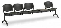 Plastová lavice do čekáren ISO Biedrax LC9730C - podnož černá
