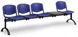 Plastová lavice do čekáren ISO Biedrax LC9730M - podnož černá