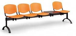 Plastová lavice do čekáren ISO Biedrax LC9730O - podnož černá