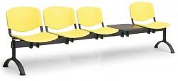 Plastová lavice do čekáren ISO Biedrax LC9730ZL - podnož černá