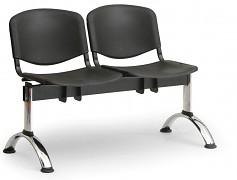 Plastová lavice do čekáren ISO Biedrax LC9681C - podnož chromovaná