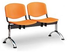 Plastová lavice do čekáren ISO Biedrax LC9681O - podnož chromovaná