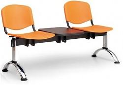 Plastová lavice do čekáren ISO Biedrax LC9691O - podnož chromovaná