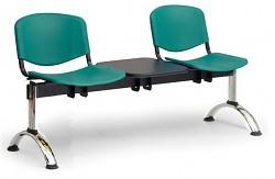 Plastová lavice do čekáren ISO Biedrax LC9691Z - podnož chromovaná