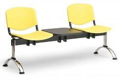 Plastová lavice do čekáren ISO Biedrax LC9691ZL - podnož chromovaná