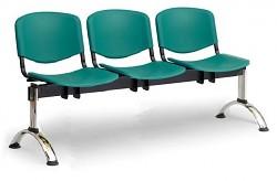 Plastová lavice do čekáren ISO Biedrax LC9701Z - podnož chromovaná