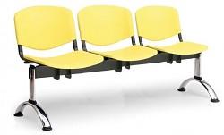 Plastová lavice do čekáren ISO Biedrax LC9701ZL - podnož chromovaná