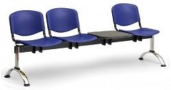 Plastová lavice do čekáren ISO Biedrax LC9711M - podnož chromovaná
