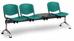 Plastová lavice do čekáren ISO Biedrax LC9711Z - podnož chromovaná