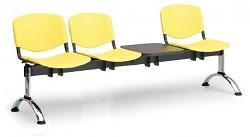 Plastová lavice do čekáren ISO Biedrax LC9711ZL - podnož chromovaná