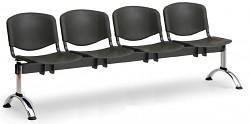 Plastová lavice do čekáren ISO Biedrax LC9721C - podnož chromovaná